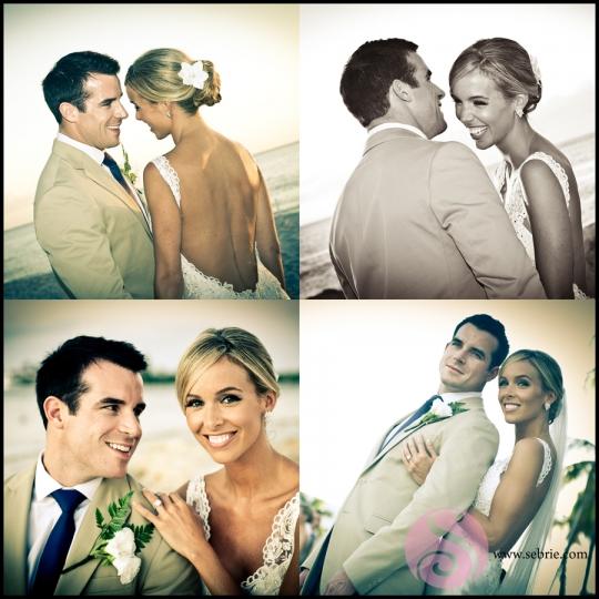 South Seas Resort Wedding Portrait