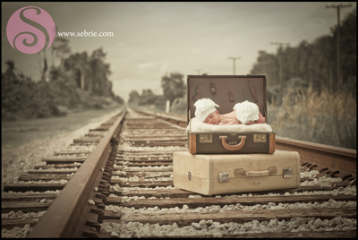 Outdoor Newborn Portrait
