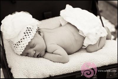 Vintage Inspired Newborn Portrait